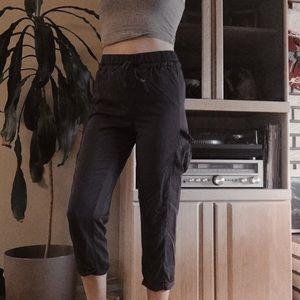 lululemon flowy lightweight cargo pants w/…